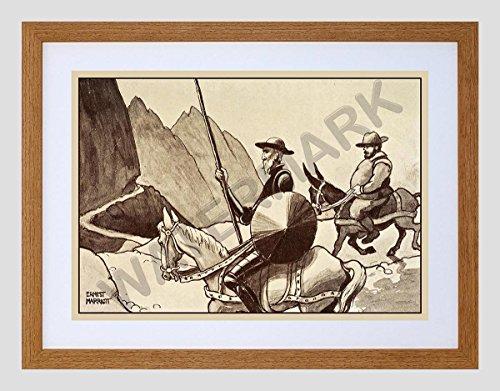 marriott-don-quixote-sancho-panza-small-framed-art-print-f97x13537