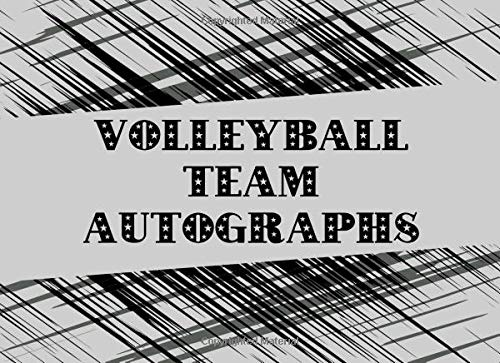 Volleyball Team Autographs: Blank Unlined Memory Book por Sportslo Notebooks