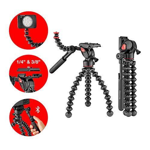 Joby JB01562-BWW Gorillapod Video Pro 3K - Gorillapod 3K Beine (mit 2-Wege-Fluid-Neiger, Schnellwechselplatte und GorillaPod Arm für DSLR, CSC, Spiegellose Kamers und Video Kameras up to 3kg)