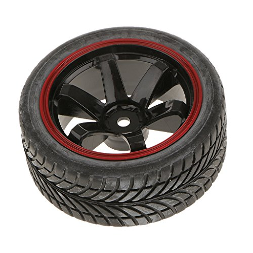 sharprepublic Pack of 4 Rally Tires Pneumatici E Ruote con Esagono da 12 Mm per RC 1/10 HSP Car