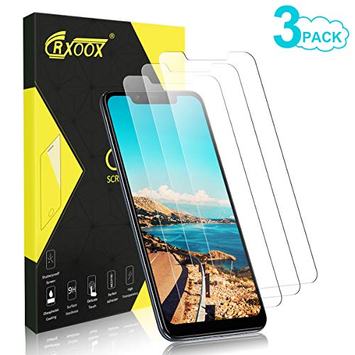 CRXOOX [3 Piezas Protector de Pantalla para Xiaomi Mi 8, Cristal Templado Vidrio Templado [Fácil de Instalar] [Sin Burbujas] [3D-Touch/9H Dureza] [Anti-Rasguños] - para Xiaomi Mi 8 - Transparente