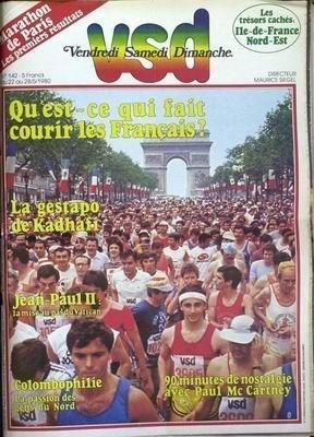 VSD [No 142] du 22/05/1980 - MARATHON DE PARIS - LA GESTAPO DE KADHAFI - JEAN-PAUL II - COLOMBOPHILIE - PAUL MC CARTNEY.