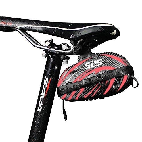 Satteltasche Für Fahrrad - Wasserabweisend - Klein Schwarz - Leicht Abnehmbar - Hartschale (Satteltasche Kit Tool)
