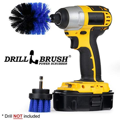 Pool Supplies - Drill Brush - Mini and 2-inch Spin Brush Maintenance Set - Pool Accessories - Pool Brush - Slide - Pond Liner - Hot Tub - Spa - Jacuzzi - Diving Board - Carpet Cleaner - Deck Brush -