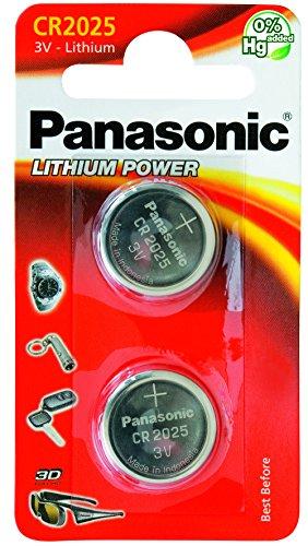 Galleria fotografica Panasonic Cr2025 Micropile al Litio, Argento (2 Pezzi)