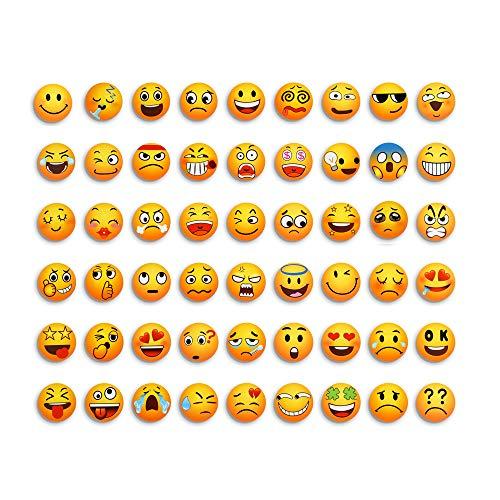 M MORCART Emoji Magnete Für Magnettafel Dekorative Küche Fridge Locks Eisen Büro Kleinkinder Und Erwachsene Geschenk 54 Pcs Set -