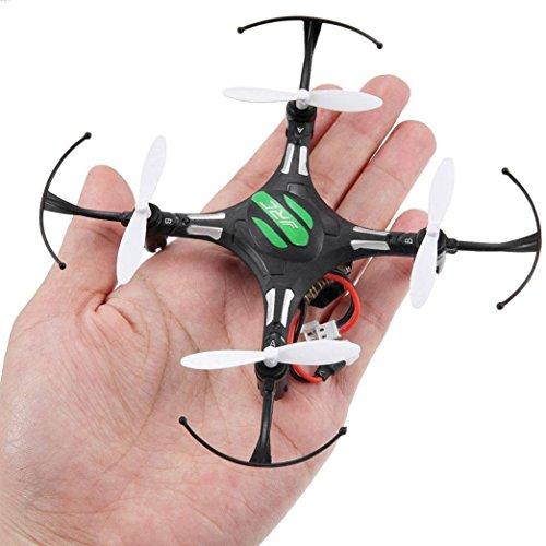 Wokee JJRC H8 Mini 2.4G 4CH 6 Achsen RTF RC Quadcopter Led Nachtlichter Quadcopter Drone mit HD Kamera mit Höhe Hold Funktion, Headless Modus und One Key Return Home, Farbe Schwarz CF-Modus