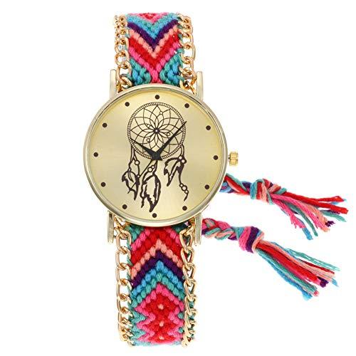 JSL - Reloj de Pulsera para Mujer, Ultrafino, diseño de atrapasueños