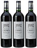 Château Laubes France Bordeaux Vin AOP 750 ml - Lot de 3
