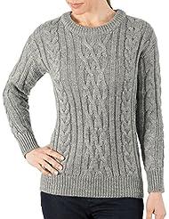 Wool Overs Pull irlandais femme en pure laine