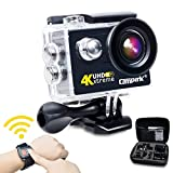 Campark 20MP Action Cam Impermeabile Sport Action Cam 4K Action Camera WiFi 170° Grandangolare con Telecomando 2.4G + 2 Batterie + Vari Accessori