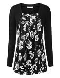 BaiShengGT Femmes T-Shirt 2 en 1 Faux Twin-Set Haut Top Manches Longues