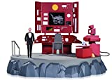 Batman DC Comics Animiertes Batcave Spielset mit Alfred Action-Figur, Rot / Grau