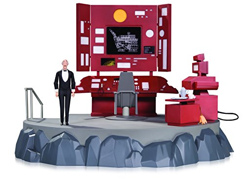 Batman apr170463 Animierter Batcave Spielset mit Alfred Action Figur (Alfred Batman Figur)