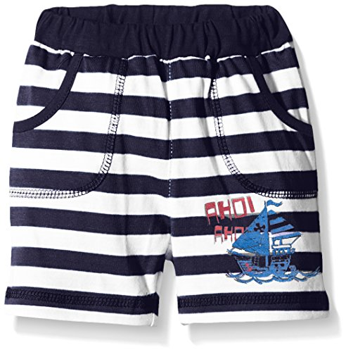 SALT AND PEPPER Baby - Jungen Short B Bermuda Ahoi stripe, Gestreift, Gr. 62, Blau (navy 460)