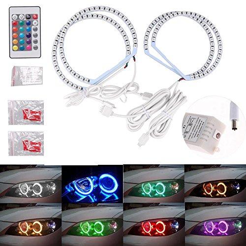 Preisvergleich Produktbild THG Angel Eyes Set LED Standlicht Ringe Scheinwerfer für E46,  RGB multi-color Halo Ring mit Fernbedienung