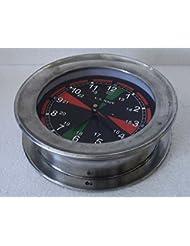 U.S. Navy Marine RADIO ROOM Wall Clock - – LARGE - BLACK Dial - Marine / Nautical / Boat / Maritime (A)