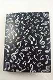 Musique thème 40 pochettes pochettes en plastique affichent cahier broché - conception de notes de musique