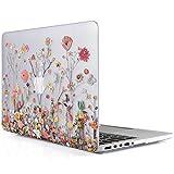 iDOO Coque Rigide Pour MacBook Pro 13 pouces Retina - Sans lecteur CD: A1425 / A1502 - Housse de protection en caoutchouc givré en plastique mat - Fleur