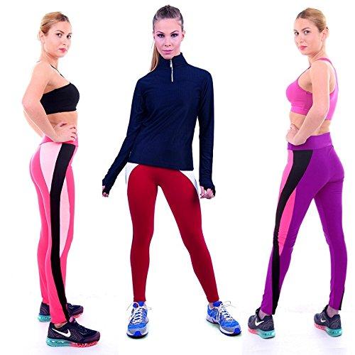 Smile YKK Legging Minceur Femme Pantalon Yoga Jogging Running Sport Casual Elastique Respirant Gris