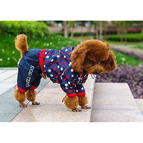 Cane piccolo cane cappotto di pioggiaIl Pet indumenti impermeabiliBarboncinoNero 4