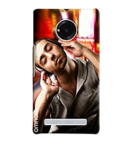 Omnam Guy Relaxing And Listening To Music Designer Back Cover Case For Micromax Yuphoria
