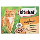 Kitekat The Hunter - Wet Cat Food - Multipack of 12 Bags x 100 g