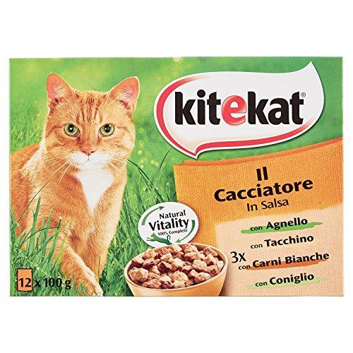 Kitekat The Hunter - Wet Cat Food - Multipack of 12 Bags x 100 g