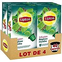 Lipton Infusion Réglisse Menthe 40 Capsules Compatibles Nespresso (Lot de 4x10 Capsules)