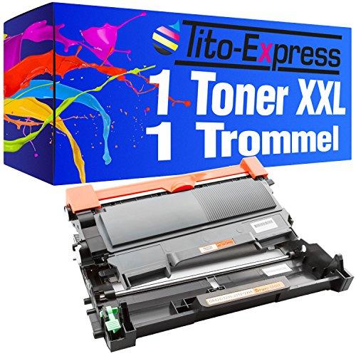 Set Trommel & Toner XXL PlatinumSerie Schwarz kompatibel für Brother DR-2200 & TN-2010 3.000 Seiten je Toner 12.000 Seiten je Trommel
