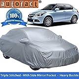 Autofact Premium Silver Matty Triple Stitched Car Body Cover with Mirror Pocket for Maruti Swift Dzire (2005 to 2011)