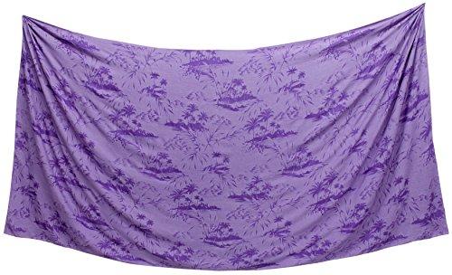 LA LEELA Frauenstrandbadebekleidung Badeanzug glatt skrirt Sarong Licht Rayon Bikini
