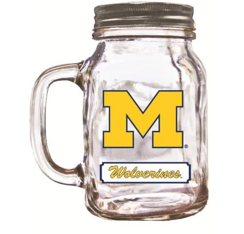 NCAA Michigan Wolverines Mason Jar, 20-Ounce by Duck House