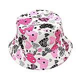 Bébé Dessin animé Imprimé floral Seau Chapeau de soleil d'été enfants filles garçons enfants Casquette Cadeau #8 taille unique