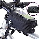 BTR Fahrrad-Rahmentasche und Handy-Tasche GEN3 – mit Option für einen wasserdichten Regenschutz, um ALL Ihre Wertsachen vor Nässe zu schützen – passend für ALLE Fahrräder
