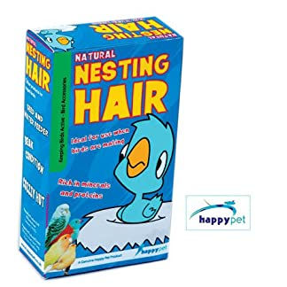 (happy pet) bird home natural nesting hair [45776] (Happy Pet) Bird Home Natural Nesting Hair [45776] 51x853IhNVL