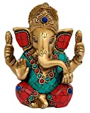 "Idol Collections Brass Indian Ganesha, Height 4.25"" I Home decor"