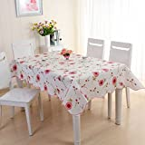 #3: Waterproof & Oilproof Wipe Clean PVC Vinyl Tablecloth Dining Kitchen Table Cover Protector OILCLOTH FABRIC COVERING
