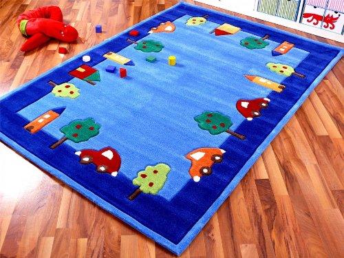 Lifestyle Kinderteppich Spielwelt Blau in 4 Größen !!! Sofort Lieferbar !!!