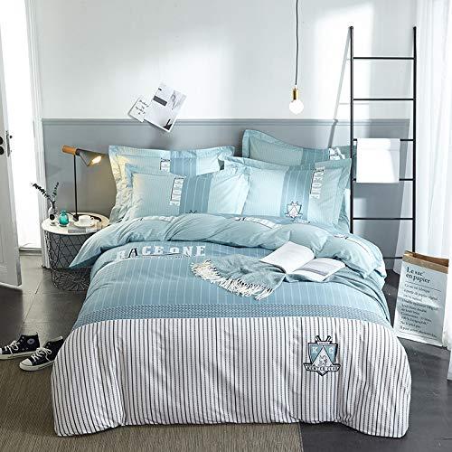 yaonuli Vierteiliges Set Nick Plus aus Baumwolle mit aktivem Twill-Aufdruck (Bettbezug 220 * 240 Blatt 250 * 270)