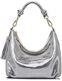 Women Handbag Small Leather Hobos Messenger Bags With Tassels By Realer