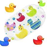 TOPSKY Rutschfeste Badematte, Kinder Dusche Matte mit Saugnäpfen Bright Cartoon bedruckt für Badewanne Kinder Matte, 39x 69cm Colorful Duck