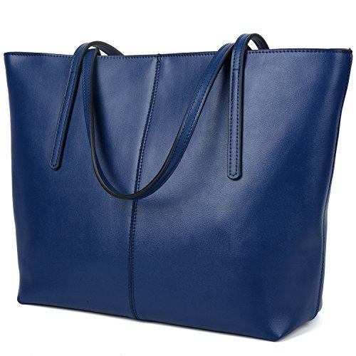 Yaluxe Donna Borse a mano per lavoro /scuola/ viaggio Vero Pelle shopper Stile semplicemente elegante Borse a tracolla