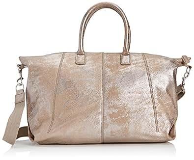 ECCO Women's Divo Shopper Top-Handle Bag, Silver, One Size