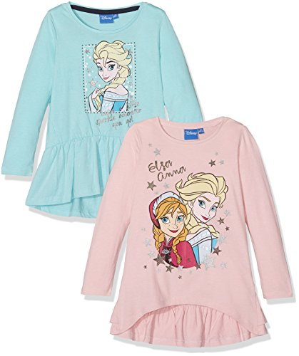 Fabtastics 161440, maglia frozen bambina, multicolore (multi 001), 140 (taglia produttore: 10y/140cm), (pacco da 2)
