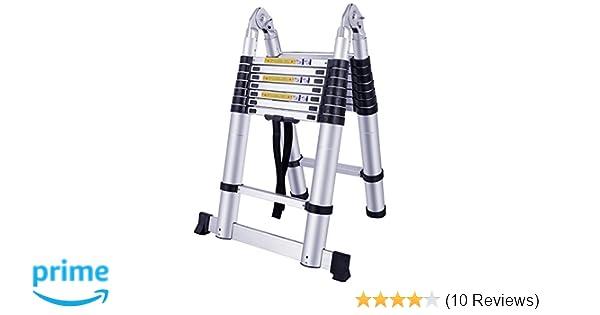 Mctech aluminium teleskopleiter m klappbar multifunktionsleiter