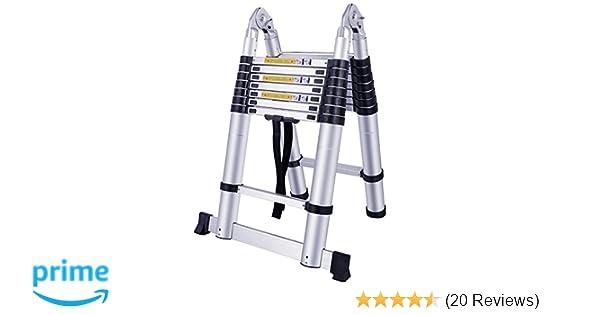 Hengmei m alu teleskopleiter klappleiter stehleiter