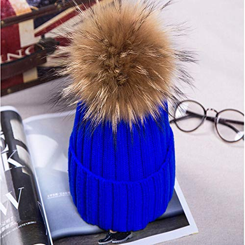 kyprx Cappelli da Sole da Donna Cappelli da Sole per Donna SunNatural Fur Cappelli da Uomo Fu BonnetPer Girlsc Blu Zaffiro C