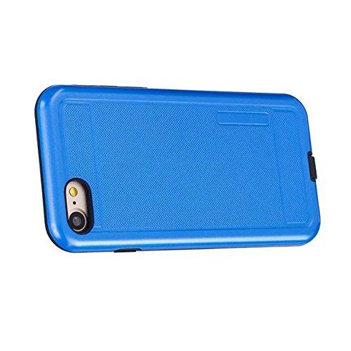 JIALUN-étui pour téléphone Housse de protection en couleur solide Shock Back Case pour Apple IPhone 7 4.7 pouces ( Color : Black , Size : IPhone 7 4.7 Inch ) Blue