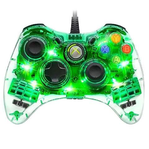 Manette filaire afterglow pdp pour xbox 360 - modèle vert